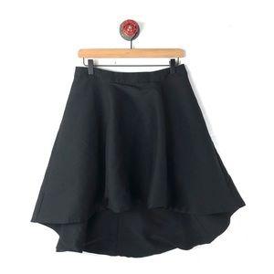Halston Heritage 6 skirt high low flutter flare